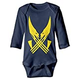 magic ship Baby Onesies Wolverine Logo American Comic Toddler Clothes Long Sleeve 18 M
