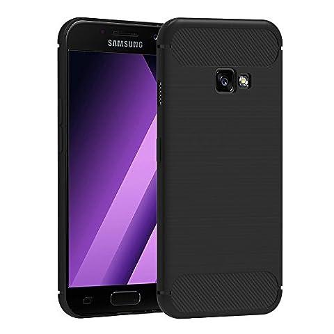 Coque Samsung Galaxy A5 2017 , iVoler Noir Silicone Etui