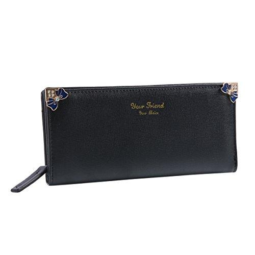 Damara fiocco in finta pelle a portafoglio borsa Black