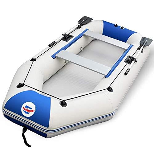 Pota canotto, 2-4 persona barca gonfiabile set con remi in alluminio e pompa ad aria ad alta uscita,4person