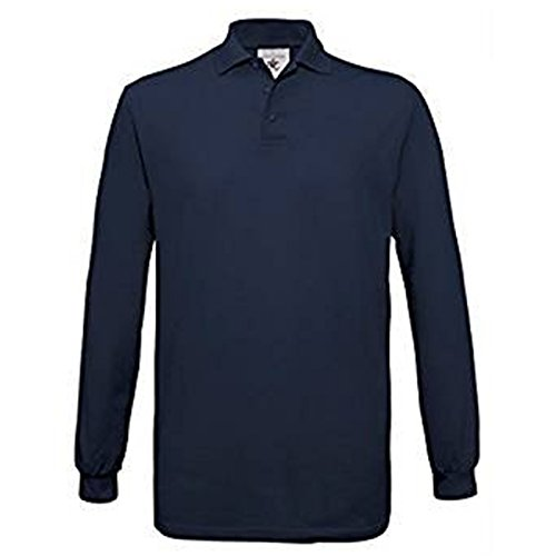 B&C Collection Herren Modern Poloshirt X-Large Gr. L, navy (Banks Outer Pocket)