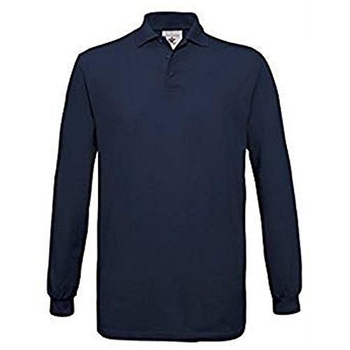 B&C Collection Herren Modern Poloshirt X-Large Gr. L, navy (V-neck Tee Pima)