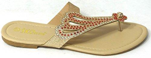 SKO'S , Tongs pour femme - Gold (40037)