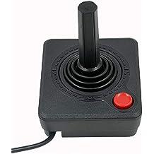 Mcbazel Remplacement du contrôleur de manette de jeu manette rétro classique pour console Atari 2600 - noir