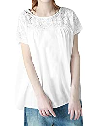 22d7263862a5 Freestyle Estivo Tops Donna Casual Sciolto Rotondo Collo Manica Corta  Camicie T-Shirt Blouse Quotidiani Moda…