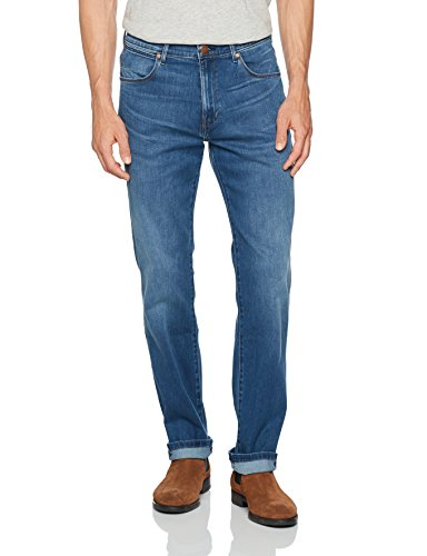 Wrangler Herren Straight Jeans Arizona Blau (Bright Stroke 1Q)