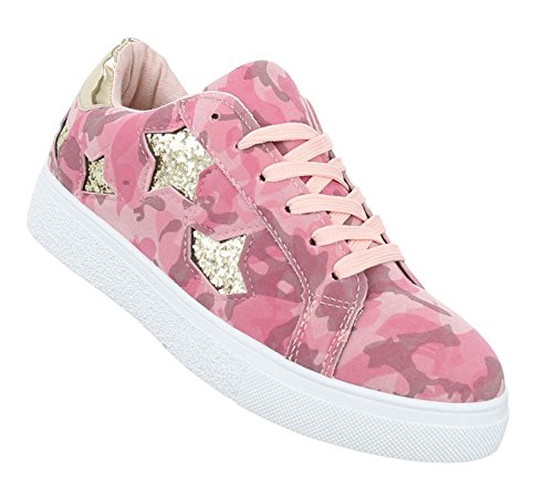 Damen Freizeitschuhe Schuhe Sneakers Sportschuhe Turnschuhe Pink