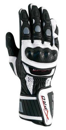 A-Pro Motor Motocicletta handschuher Hochwertige Guanti argento, M