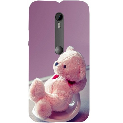 Casotec Cute Teddy Bear Design Hard Back Case Cover for Motorola Moto G 3rd Generation