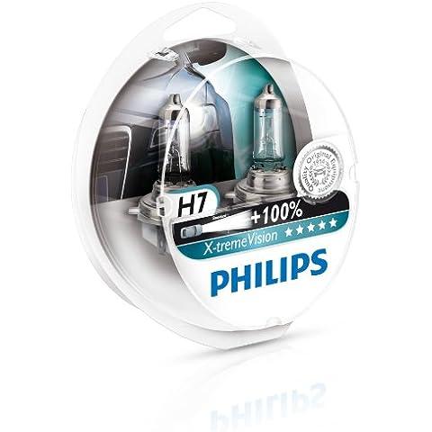 Philips 12972XVS2 X-treme Vision - Bombilla H7 +100% para faros delanteros (2 unidades) [Por un tiempo limitado, el producto con un rendimiento de + 130 % (2