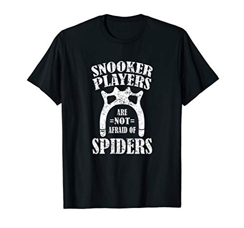 Lustiges Snooker Queue T-Shirt - Keine Angst vor Spinnen T-Shirt -