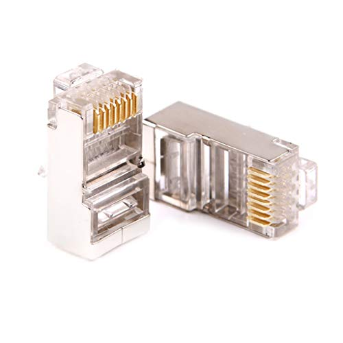 TAOtTAO CAT6 RJ45 Pass-Through-Netzwerkkabel Modular Steckverbinder Open End 100 Stck Sechs Arten von Gigabit CAT6-Netzwerkkristallkopf -