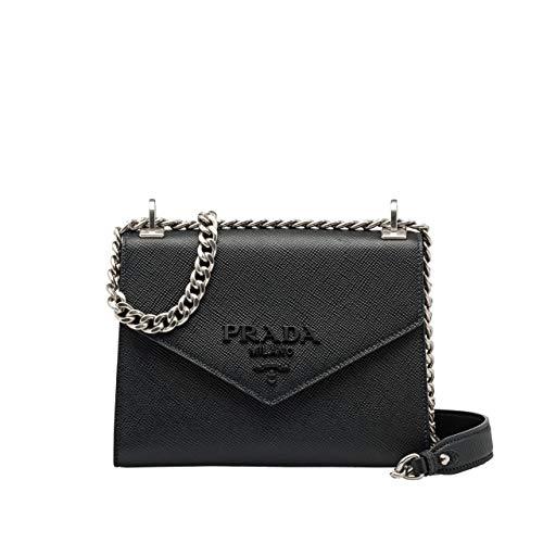 HH-Prada Monochrome Saffiano Umhängetasche Leder Tasche für Damen im neuen Stil