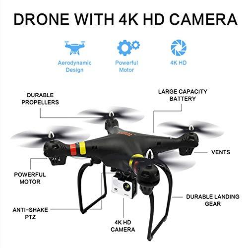 SEXTT Drohne Quadcopter mit 4K HD Kamera 1200 Pixel, Choreografie Routenplanungsmodus VR Mini-Drohne für Kinder und Anfänger