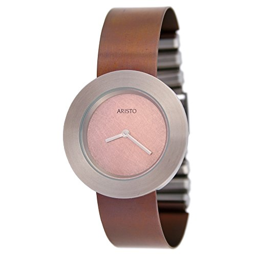 Aristo Dau titanio Orologio da donna al quarzo con fermaglio per Bracciale Ossidato–Rosé 5d93