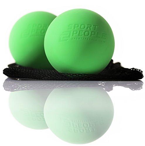 Sport2People Premium Massage Ball-Set of 2Lacrosse Balls für Trigger Point Behandlung und Fersensporn Schmerzlinderung-Therapie Ball für Deep Tissue Massage und myofaszialer Release
