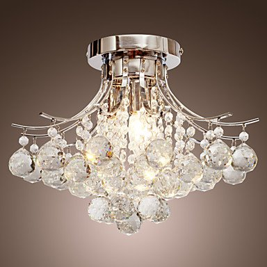 Modern Chandelier Crystal 3 Lights - inexpensive UK light shop.