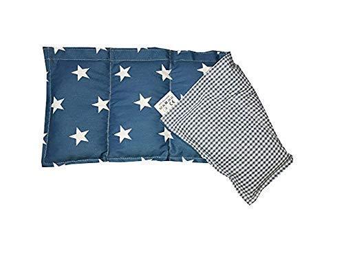 Kissenscheune Körnerkissen Natur Wärmekissen jeans blau Sterne/kariert Wendekissen100{4ca94a79f307161af96d27b3f47b9e99259e923e33b47d103eb81be62e6040f8} Baumwolle 50x20cm Dinkelkissen kostenloser Versand