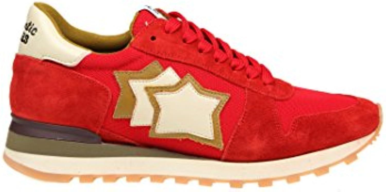 Atlantic Stars Herren ARGORFSNYAPSBO Rot Stoff Sneakers