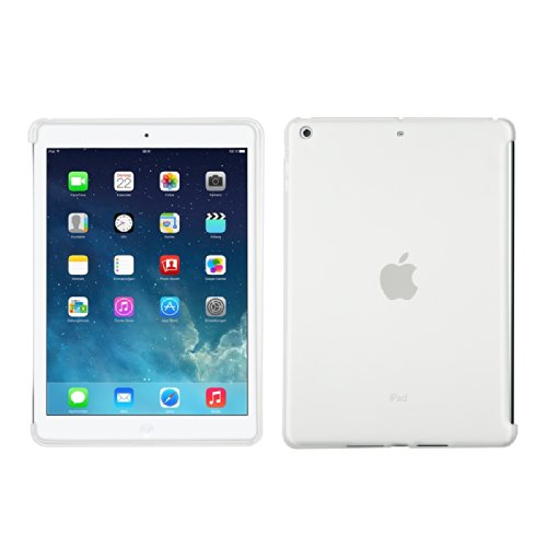 kwmobile custodia di silicone TPU (compatibile con smart cover) per Apple iPad Air in bianco - custodia protettiva per tablet cover chiara - 1 Segno In Bianco