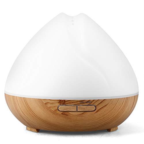 Asixx Duftspender für ätherische Öle, Wifi, Ultraschall-Luftbefeuchter, 400 ml, mit LED, Aroma-Diffusor, Kompatibel mit Alexa und Google Home, App Kontrolle, 7 Farben veränderbar Prise Ue
