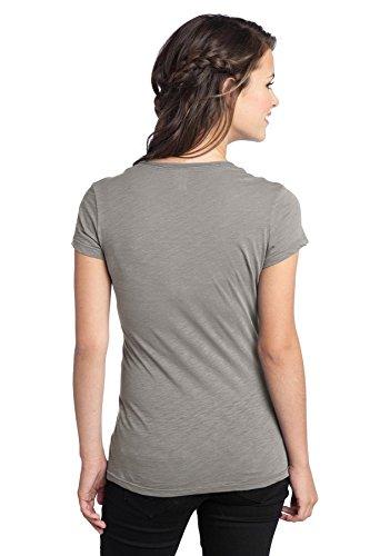District de-Junior-Fit T-Shirt. DT240 col en tricot Gris - Gris givré