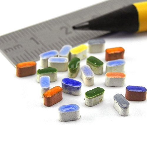 ALEA Mosaic Mosaik-Minis Reis, 1.000 Micro Stein 5x2x3 mm, Buntmix, MXAL - 2 X 2 Mosaik