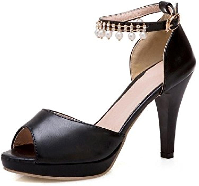 BAJIAN-LI Alta heelsdonna sandali estivi di Peep toe toe toe scarpe basse Ladies Flip Flop sandali scarpe   Di Qualità Superiore  2bf4f9