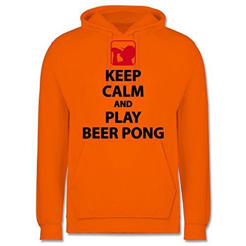 Festival - Keep Calm And Play Beer Pong - Männer Premium Kapuzenpullover / Hoodie Orange