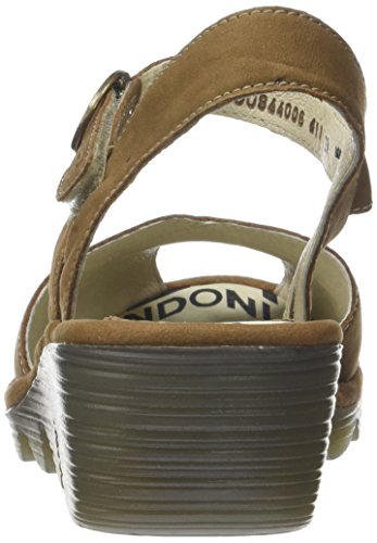 Fly London Peke844fly, Sandales Bout Ouvert Femme Beige (Sand)