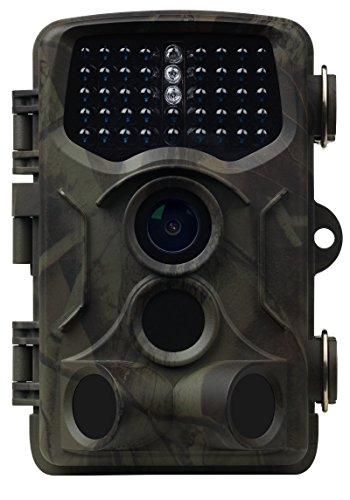 MEDION S47044 Wildkamera, 5.0 MP, Heimüberwachung oder Tierbeobachtung, Spritzwassergeschützt, Belichtungsautomatik, Mikrofon, Lautsprecher, grün
