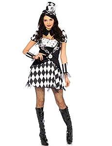 WONDERLAND-W5040502007 Mujer, color negro blanco, Medium (EUR 38-40) (Leg Avenue Inc. W5040502007)