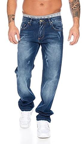 Rock Creek Herren Jeans Blau LL-305 [W34