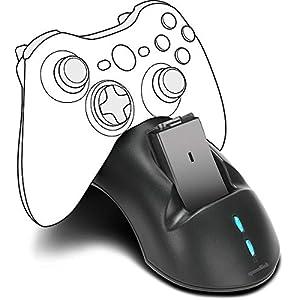 Speedlink Controller-Ladestation für XBOX 360 – Bridge Charging System USB (Geeignet für das Laden von zwei Controllern – gummierte Füße für sicheren Stand – bis zu 20 Stunden zusätzliche Spielzeit) schwarz