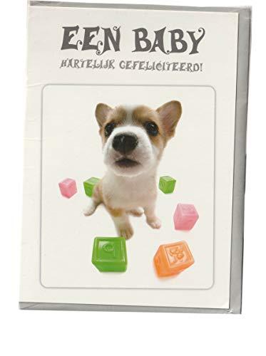 d Beeld OP Dik Papier Umhüllen. kwaliteit: Schaft nederland Tekst: Een Baby onderwerp: Beby Hond, AT4054 ()