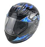 Soar Motorradhelm Rookie Blue, Größe S (55-56 cm) - die Marke für Kenner - Rundumschutz mit stylischem Design