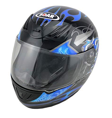 Soar Motorradhelm Rookie Blue, Größe M (57-58 cm) - die Marke für Kenner - Rundumschutz mit stylischem Design