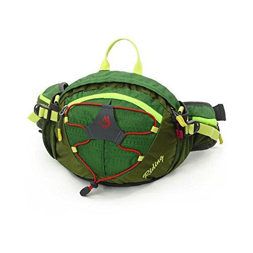 uhbgt Laufen Gürtel, Radfahren Taille Pack Gürtel Sport Jogging Reißverschluss Taille Tasche mit Reflexstreifen Wasserdicht Tauchen Stoff für Reisen, Wandern Grün