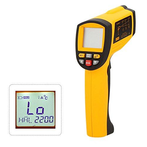 KKmoon Digital Infrarot IR Thermometer【Laser Temperatur Gun/Testbereich 200~1850 ℃ (392 ℉ ~ 3362)/mit RS232 Schnittstelle/LCD Berührungslose 80: 1 】