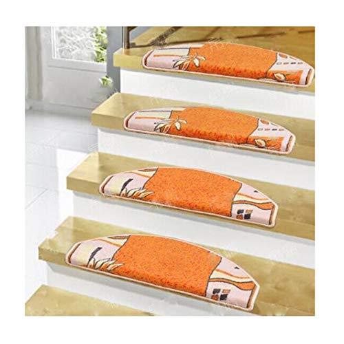Escalera alfombra peldaño peldaño escalera sin adhesivo autoadhesivo lavable madera maciza escalera de caracol de mármol casa adhesivos antideslizantes peldaños no dañan la superficie de la pintura na