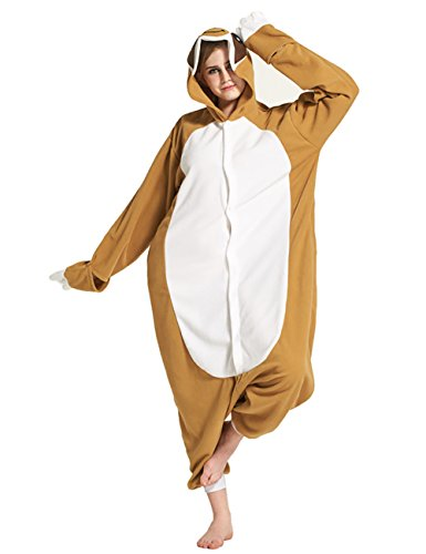 Mena Uk Adulte Kigurumi Cosplay Pyjama Unisex Anime Tier Kostüm Cosplay Combinaison Halloween Pajama ou Déguisement ( Farbe : Sloth , größe : Xl )