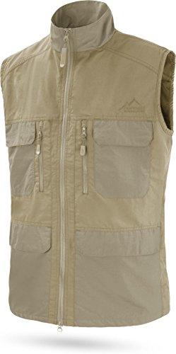 normani Herren Outdoor Sport Weste mit vielen Taschen für Freizeit, Angeln, Jagd oder Safari Tour [XS-5XL] Farbe Khaki Größe XL (Boot Wege 2)