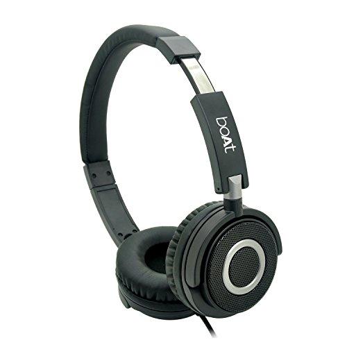 boAt BassHeads 900 Wireless Bluetooth Headset (Black)
