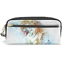 3d96797c01 Watercolor Tiger Style matita di grande capacità sacchetto della matita  resistente con doppia cerniera per scuola