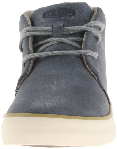 KEEN Mens Santa Cruz Leather Oceano, Stylish leather lace up shoe Oceano