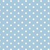 Baumwollstoff Punkte Hellblau Webware Meterware Popeline