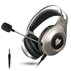 ELEGIANT Gaming Headset ps4, Gaming Kopfhörer Noise Cancelling Headphones Wireless Bügelkopfhörer mit Reiner Tonqualität Mikrofon 3,5mm Klinke für PS4 Pro/PS4 Xbox One PC Laptop Tablet Mac