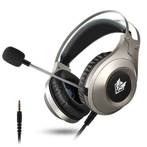 Cuffie gaming pc, elegiant auricolari headset per ps4 ps4 pro xbox one mac tablet con microfono isolamento del rumore per iphone xs xs max xr x 8 ipad samsung s9 s9+ huawei p20 10 htc lg ecc