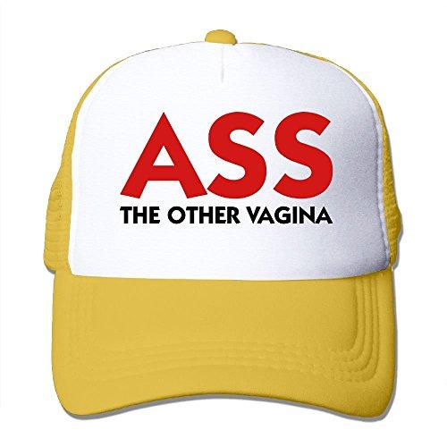 Ass - Die andere Vagina Mesh Trucker Caps/Hüte einstellbar für Unisex Schwarz