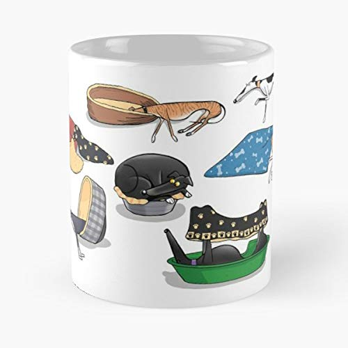Richard Skipworth Richskipworth Rich Greyhound - Il miglior regalo di tazza da caffè in ceramica da 11 once